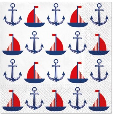 Ships and Anchors Luncheon Napkins