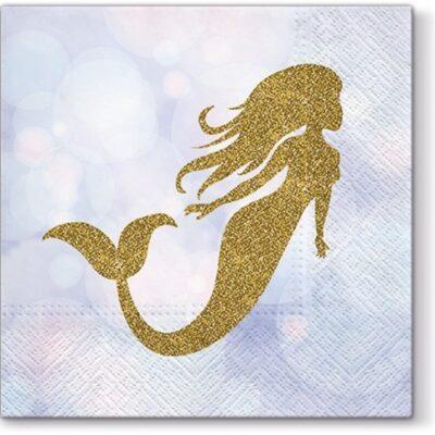 Golden Mermaid Luncheon Napkins