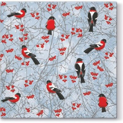 Winter Birds Luncheon Napkins