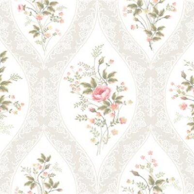 Floral Wallpaper Pattern Luncheon Napkins