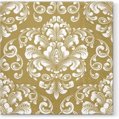 Wedding Pattern Gold Luncheon Napkins