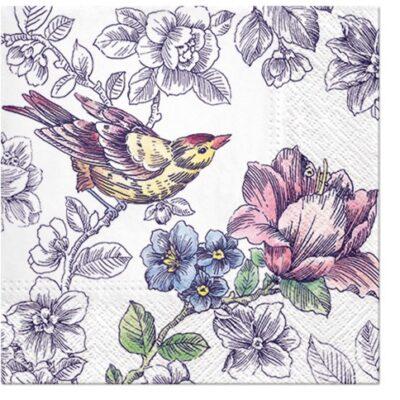 Little Bird in the Garden Luncheon Napkins